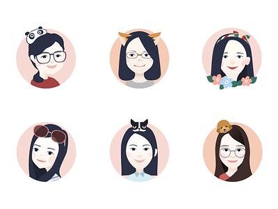 cartoon avatar for team colleagues(1) avatar,illustration