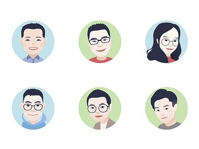 cartoon avatar for team colleagues(3) avatar,illustration