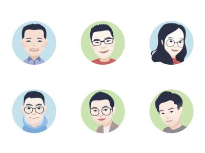 cartoon avatar for team colleagues(3)
