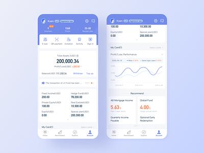 Lu APP' new account page finance app account