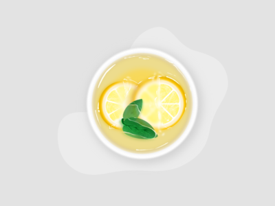 Lemon tea illustration in Procreat 🍵