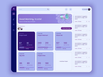 Dashboard UI purple graph data dashboard bigdata typography design branding ux minimal ui