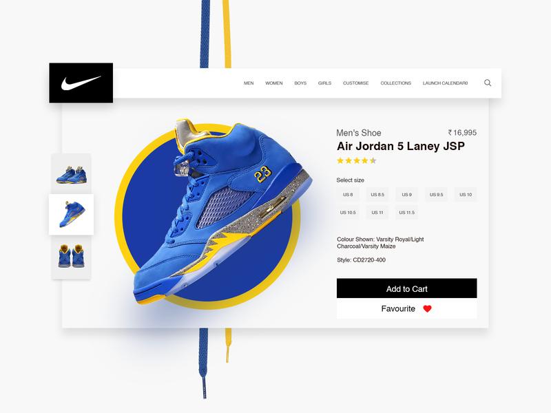 Nike product page ecommerce design ecommerce just do it justdoit black modern clean foot wear branding shoe nike fan trueblue blue nike