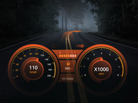 Daily UI : Speedometer Design