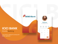 ICICI Bank : login page
