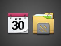 Calendar, folder