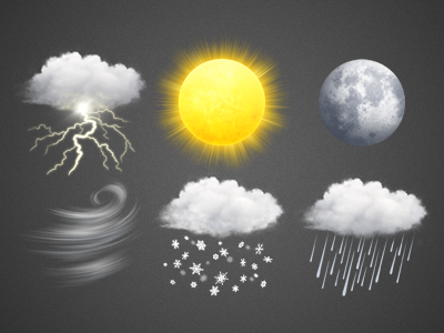 Weather icons by Buzuk on Dribbble