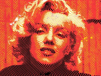 Monroe print effect portrait design filter art text