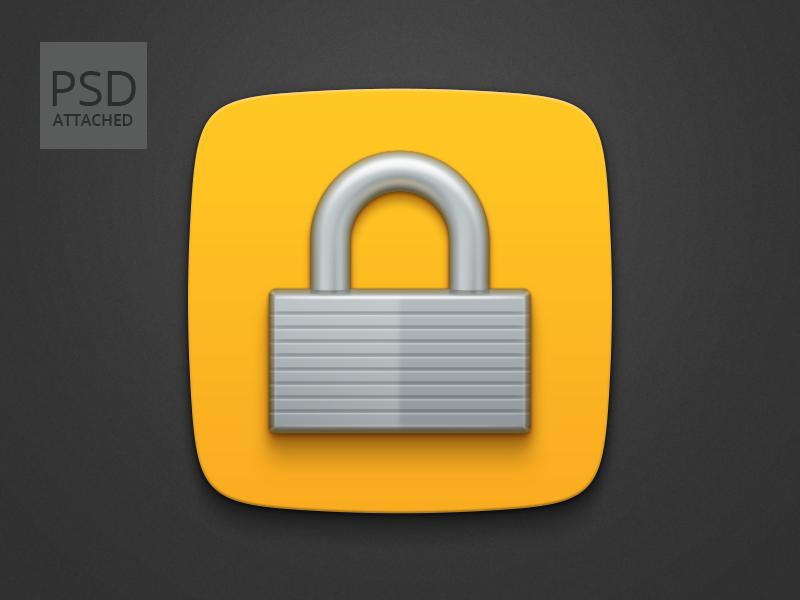 Freebie: Padlock icon PSD padlock icon iconography freebie psd icon drawer buzuk process