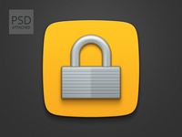Freebie: Padlock icon PSD