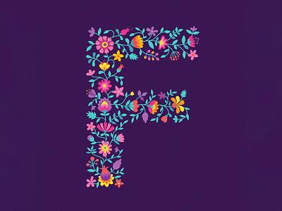 F lowers typography art typography app amadine art vector 36 days of type f 36daysoftype 36days