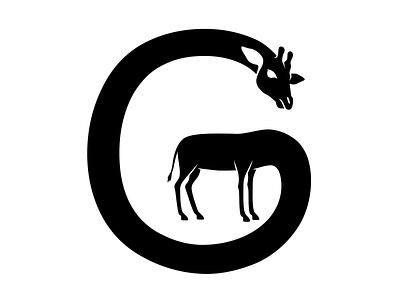 Giraffe, letter G for 36 days of type lettering art letter type giraffe icons illustration design amadine icon art vector logo 36daysoftype