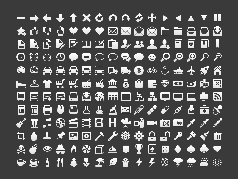 Simple icons icons vector