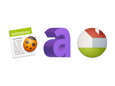 App icons for Belight Software 3d home live publisher swift text art
