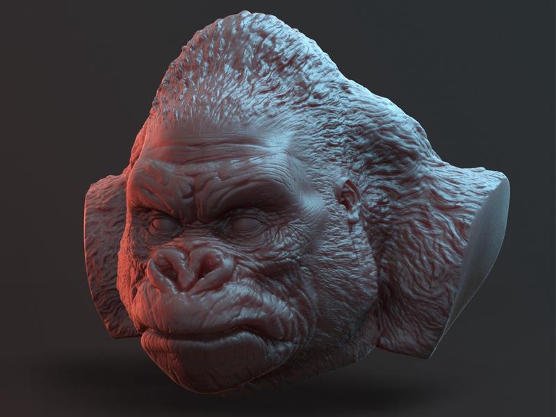 Monkey sculpting modelling 3d zbrush