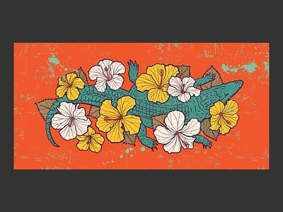 Crocodile flowers hibiscus crocodile
