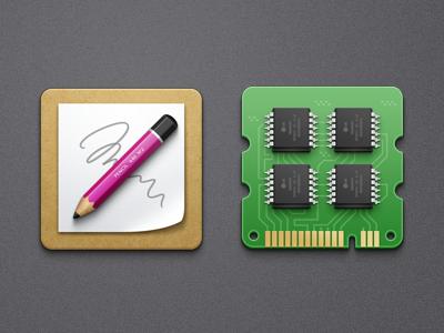 icons ram memory pencil icons icon