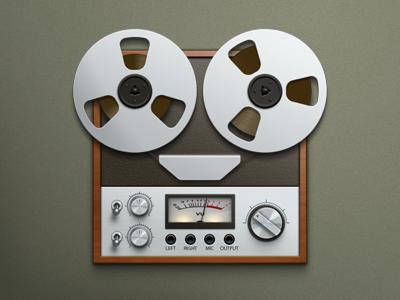 Recorder tape recorder bobine icons icon