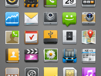 L icons preview