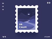 Calm | Stamp | Daily Design | TGZ