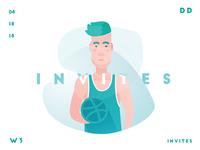 2x Dribbble Invite | Daily Design | TGZ