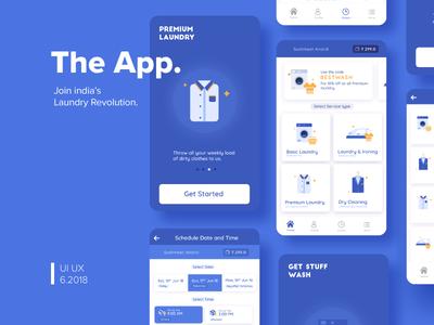 Xpress Laundromat | App Redesign | TGZ ui mobile redesign app