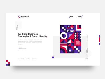 Landing Page Exploration | LeanTrack | TGZ vector ux ui typography logo leantrack illustration icon design branding