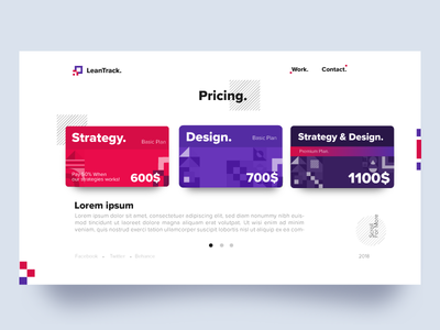 Pricing Page Exploration #2 | LeanTrack | TGZ product webdesign vector ux ui typography logo leantrack illustration icon design pricing