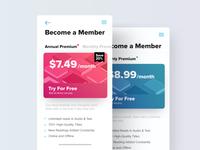 Subscription Screen Exploration | TGZ