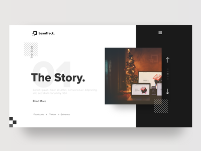 Gallery Page Exploration | LeanTrack | TGZ minimal 2d responsive web page landing ux ui flat story gallery