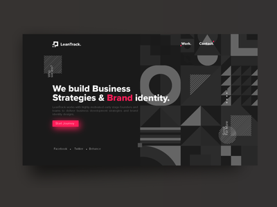 Landing Page Exploration | LeanTrack | Dark | TGZ flat dark vector ux ui typography logo leantrack illustration icon design branding