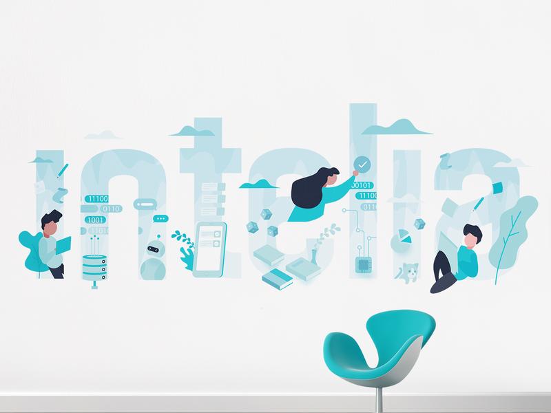 Intelia Backdrop print apparel design vector wall art wall decal
