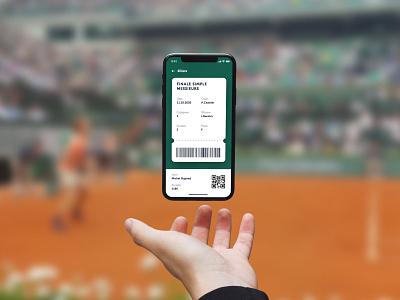 Roland-Garros - Ticket roland-garros ticket app ticketing stade ticket