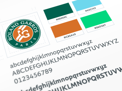 Roland-Garros - Guidelines roland-garros guideline guidelines colors logo tennis