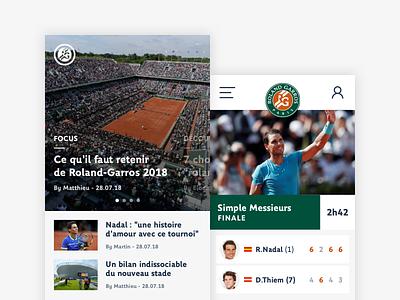 Roland-Garros - Application tennis roland-garros logo guidelines guideline colors