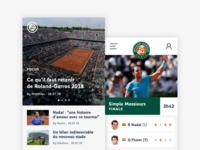 Roland-Garros - Application