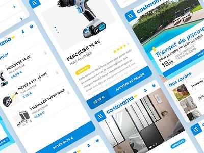 Castorama - Responsive responsive web mobil castorama app