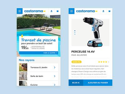 Castorama - Responsive web responsive mobil castorama app