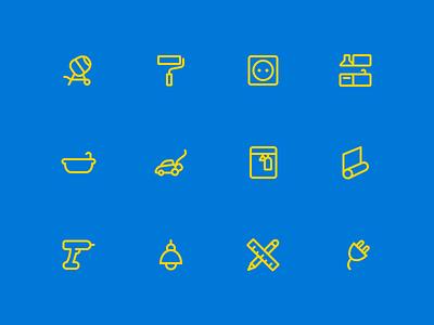Castorama - Icons improvement home diy castorama icon