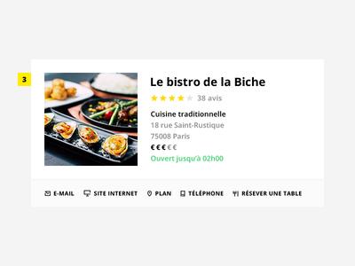 PagesJaunes.fr - Restaurant card summary restaurant jaune pages pages jaunes