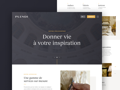 Plendi - Home websesign ui web design vinci