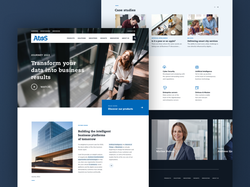 Atos - Home atos ui data business corporate webdesign design web