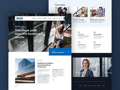 Atos - Home atos ui data business corporate webdesign design web