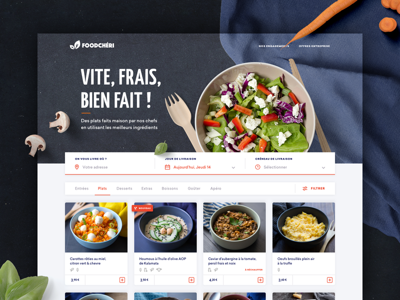 Foodcheri - Home ui uidesign webdesign delivery food web