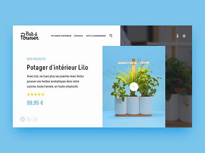 Prêt à Pousser - Slider colors design prêt à pousser home slider ui animation web