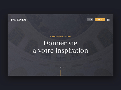 Plendi - Animation ink effect ink luxe luxury hero slider plendi vinci animation web