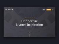 Plendi - Animation ink effect ink luxe luxury hero slider plendi vinci animation web