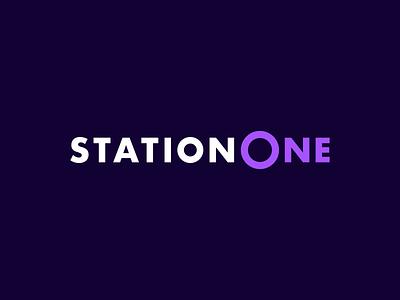 StationOne - Logo one station train alstom logotype logo