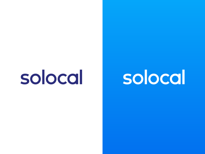 Solocal - Logo blue logotype logo solocal