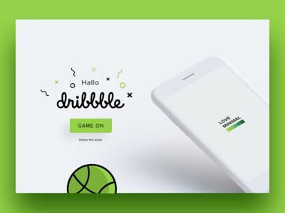 hallo dribbble debuts phone green design ui graph profile dribbble
